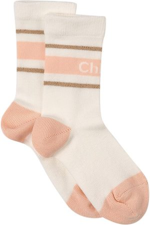 Chloé Girls Socks - Kids - Branded Stripe Socks - Girl - 27 (UK 9) - - Socks
