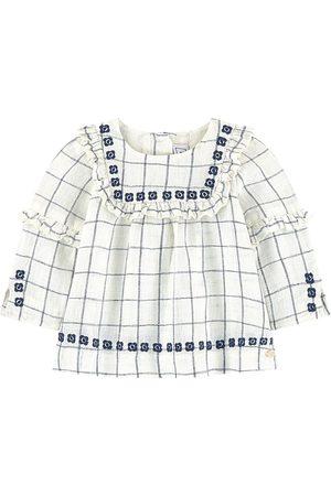 Tartine Et Chocolat Girls Blouses - Check print blouse - Girl - 3 Months - - T-shirts