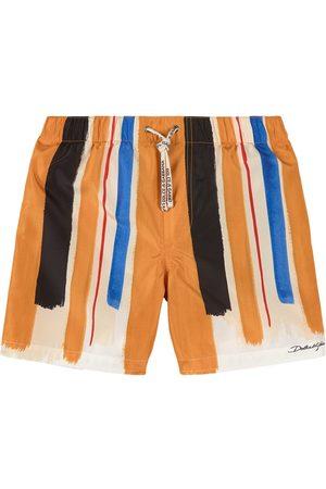 Dolce & Gabbana Boys Swim Shorts - Kids - Yellow Multi Brush Stroke Swim Shorts - Boy - 4 years - - Trunks