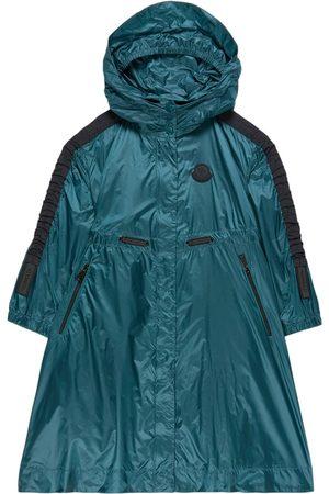 Moncler Kids - Petrol Green Urville Hooded Windbreaker - Girl - 6 years - - Trench coats