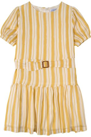 Mayoral Stripe Belt Dress - Girl - 8 years - - Casual dresses