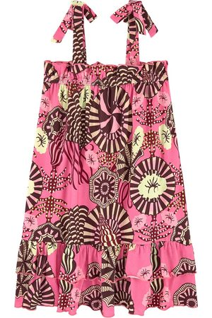 Scotch&Soda Kids - Jersey dress in allover print with shoulder ties - Girl - 6 years - - Casual dresses