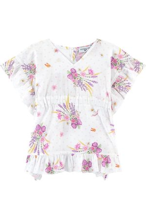 MONNALISA Flower Print Kaftan Dress - Girl - 36 months - - Kaftans