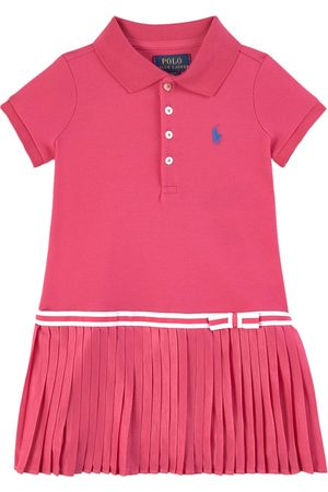 Ralph Lauren Girls Casual Dresses - Kids - Stretch Mesh Pleated Dress - Girl - 2 years - - Polo dresses