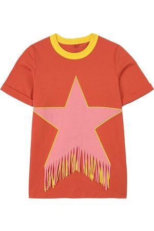 Stella McCartney Girls Casual Dresses - Kids Sale - Jersey Fringe Star Dress - Girl - 3 years - - Casual dresses