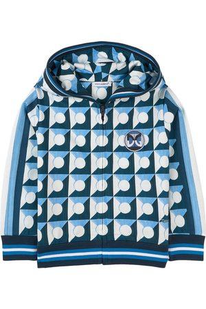 Dolce & Gabbana Kids - Abstract Print Full Zip Hoodie - Boy - 2 years - - Hoodies