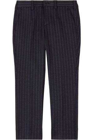 Dolce & Gabbana Boys Pants - Kids - Black Classic Pinstripe Pants - Boy - 4 years - - Trousers