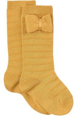 CONDOR Knitted Bow Knee Socks Mustard - Girl - 6-12 Months - - Socks