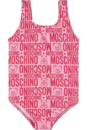 Moschino Kids - All Over Branded Swimsuit - Girl - 18-24 months - - Swim suits