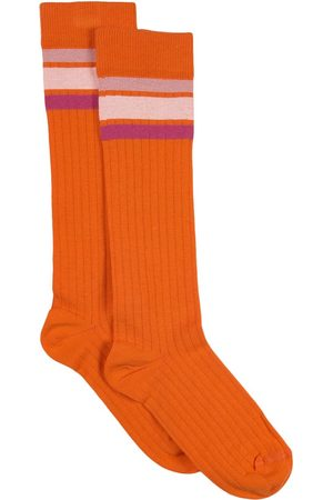 Indee Girls Socks - Sale - Papaya Jalouse 3 Stripes Socks - Girl - 35-37 - - Socks