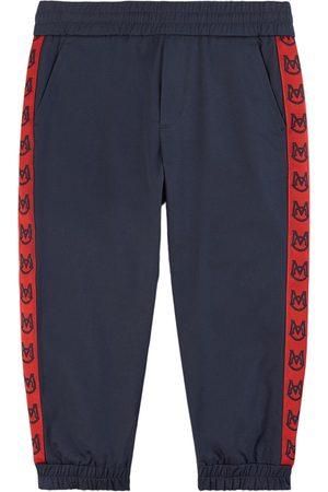Moncler Kids - Navy Logo Tape Sweatpants - Boy - 4 years - - Sweatpants