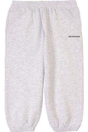Balenciaga Kids Sale - Melange Logo Sweatpants - Unisex - 8 Years - Grey - Sweatpants