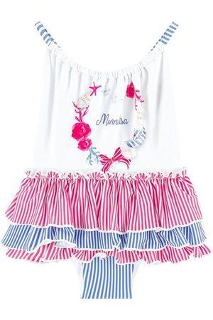 MONNALISA Stripe Ruffle Swimsuit - Girl - 36 months - - Swim suits