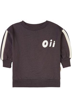 Oii Sweatshirt Old School Sports Pinstripe - Unisex - 86/92 cm - Grey - Sweatshirts