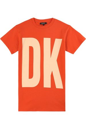 DKNY Kids Sale - Orange Logo T-Shirt Dress - Girl - 8 years - - Casual dresses