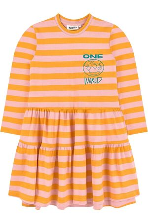 Molo Girls Casual Dresses - Sale - Striped organic cotton dress - Girl - 3-4 years - - Casual dresses