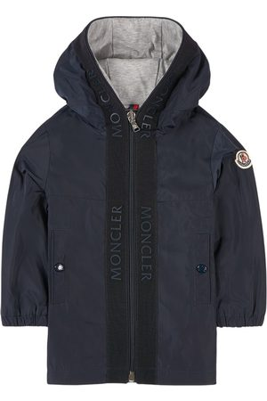 Moncler Kids - Navy Hiti Branded Hooded Windbreaker - Unisex - 12-18 months - Navy - Windbreakers