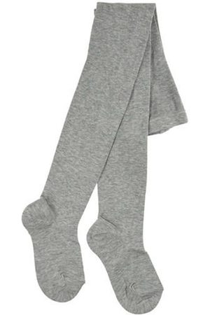 CONDOR Girls Stockings - Aluminium knit Baby tights - Unisex - 0-3 months - Grey - Tights