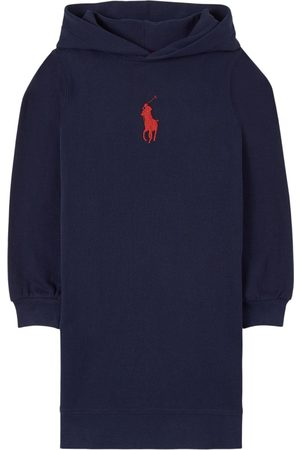 Ralph Lauren Girls Casual Dresses - Kids - Navy French Pony Player hoodie Dress - Girl - 3 years - Navy - Casual dresses