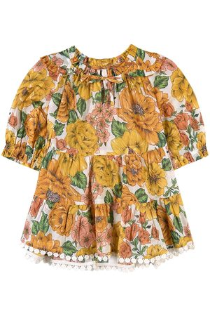 ZIMMERMANN Girls Casual Dresses - Kids Sale - Floral Top Yellow - Girl - 12 Months - - Casual dresses