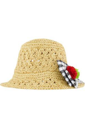 Mayoral Girls Hats - Bow Braided Sun Hat Brown - Girl - 51 (2-4 years) - - Sun hats