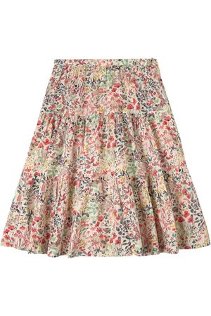 BONPOINT Girls Printed Skirts - White Floral Print Skirt - Girl - 4 years - - Midi skirts