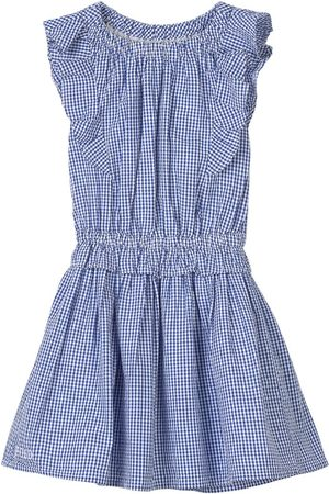 Ralph Lauren Girls Casual Dresses - Kids Sale - Gingham Ruffle Shoulder Dress - Girl - 3 years - - Casual dresses