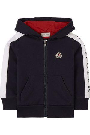 Moncler Kids - Navy Maglia Hoodie - Boy - 4 years - - Sweatshirts