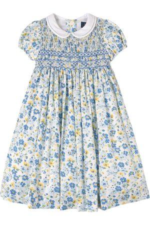 Ralph Lauren Girls Printed Dresses - Kids - Floral Hand-Smocked Dress - Girl - 3 years - - Party dresses