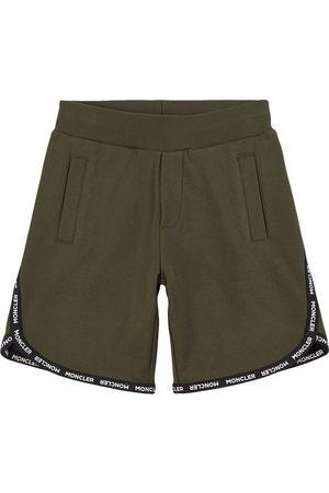Moncler Kids - Logo Tape Sweatshorts - Boy - 4 years - - Sport shorts