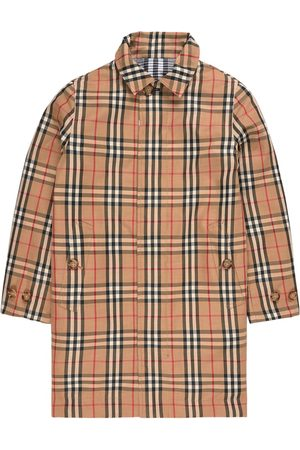 Burberry Kids - Claudio Reversible Checked Trenchcoat Beige - Unisex - 3 years - - Trench coats