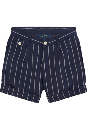 Ralph Lauren Girls Shorts - Kids Sale - Navy Stripe Tailored Shorts - Girl - 8 years - Navy - Formal shorts