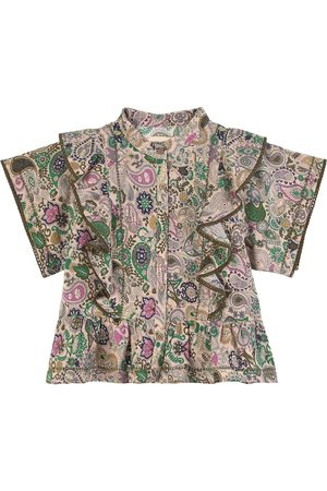 Zadig & Voltaire Kids - Pailsey Print Cotton Voile Blouse - Girl - 4 years - - Blouses