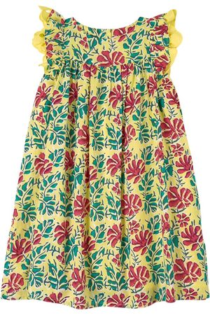 Lison Paris Sale - Floral Dress Yellow - Girl - 4 Years - - Casual dresses