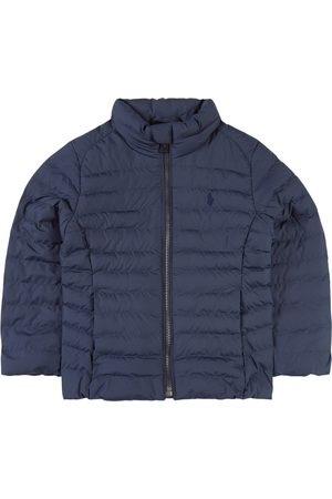 Ralph Lauren Girls Puffer Jackets - Kids - Navy Lightweight Packaway Padded Jacket - Girl - 2 years - Navy - Padded and puffer jackets