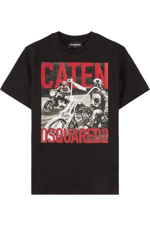 Dsquared2 Kids Sale - Motorcycle Print T-Shirt - Boy - 8 years - - Shirts