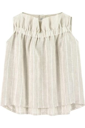 Il gufo Girls Tank Tops - Sale - Beige Sleeveless Top - Girl - 4 Years - - Blouses