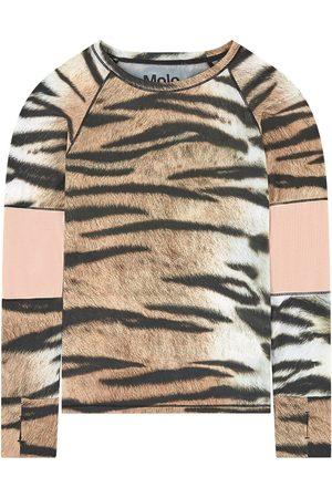 Molo Print sports T-shirt - Girl - 3-4 Years - - Long sleeved t-shirts