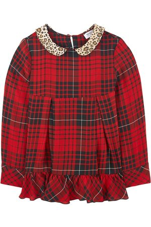 MONNALISA Girls Blouses - Sale - Check print blouse with a Peter Pan collar - Unisex - 14 years - - Blouses