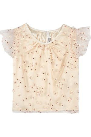 BONPOINT Girls Blouses - Ruffle Floral Print Blouse - Girl - 4 years - - Blouses