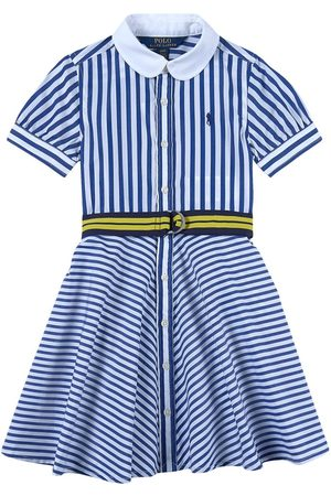 Ralph Lauren Kids Sale - /White Striped Belted Shirt Dress - Girl - 2 years - - Casual dresses