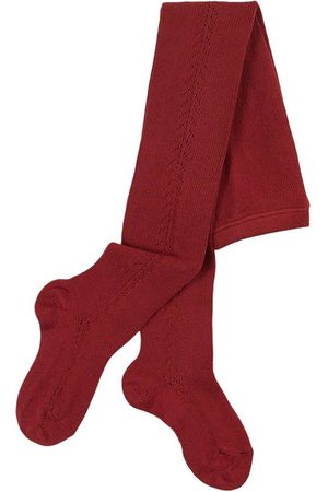 CONDOR Girls Stockings - Side Openwork Tights Burgundy - Girl - 3-6 Months - - Tights