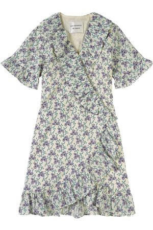 Les Coyotes de Paris Kids - White Terri Flower Paisley Print Dress - Girl - 8 Years - - Casual dresses