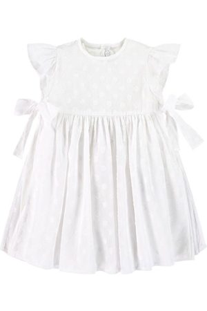 Il gufo Sale - Dotted Dress White - Girl - 6 Months - - Casual dresses