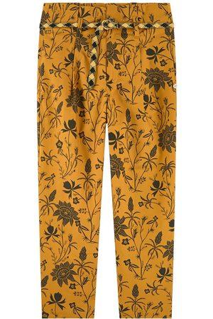 Scotch&Soda Girls Cargo Pants - Kids - Floral High Waist Pants - Girl - 6 years - - Cargo pants