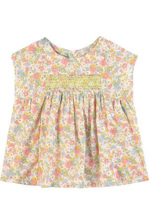 BONPOINT Girls Blouses - Floral Print Blouse - Girl - 12 months - - Blouses