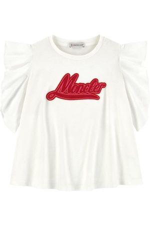 Moncler Girls Blouses - Kids - Logo print T-shirt - Girl - 4 years - - Blouses