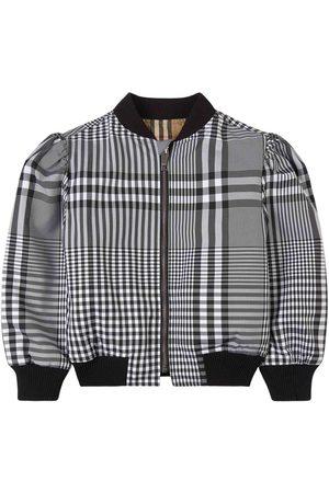 Burberry Kids - Reversible Check Vera Bomber Jacket - Girl - 4 years - - Bomber jackets