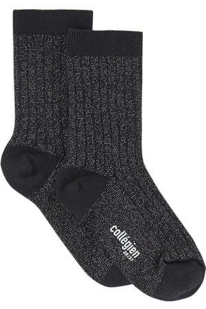 Collegien Socks - Kids - Pair of cotton socks with lurex - Unisex - 24/27 (UK 7/9 - US 8/10) - - Socks