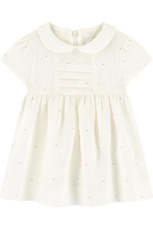 Tartine Et Chocolat White Linen Baby Dress - Girl - 3 Months - - Casual dresses